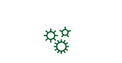 Icono de germen del factor de riesgo de padecer cataratas asociado a enfermedades.