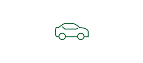 Imagen de icono de coche que representa el aumento de la seguridad en condiciones de baja visibilidad con una LIO monofocal