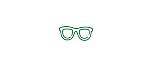Imagen de icono de gafas que representa la necesidad de usarlas para ver de cerca.