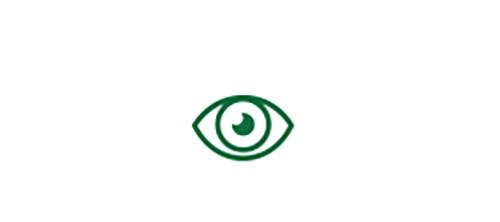 Imagen de icono de ojo que indica visión de lejos de alta calidad.
