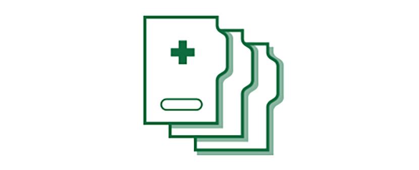 Imagen de icono de historia clínica.